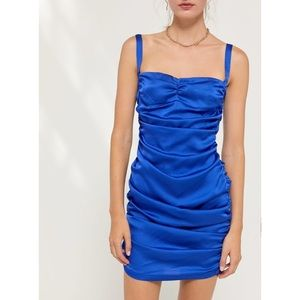 Mysterious Girl Ruched Mini Dress